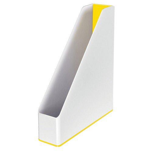Leitz Magazine File WOW Duo Colour White/Yellow