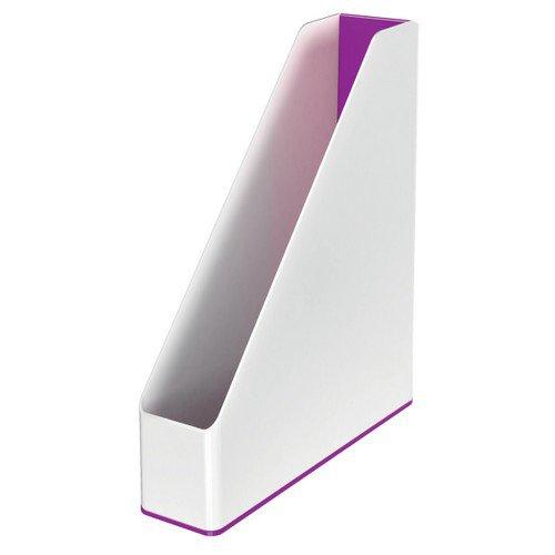 Leitz Magazine File WOW Duo Colour White/Purple