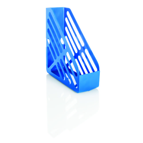 Basic Magazine Rack File Foolscap Blue