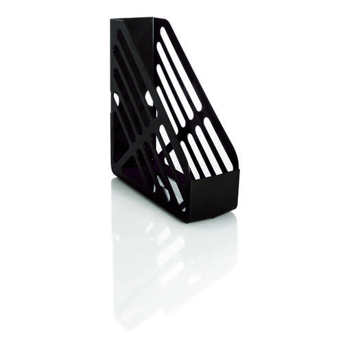 Basic Magazine Rack File Foolscap Black