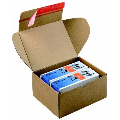 Despatch Box Brown CP 080.02 ID 140x101x43mm Ext 160x107x48mm 20 Per Pack
