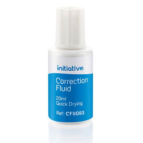 Initiative Correction Fluid 20ml Quick Drying With Tapered Brush Pack 10