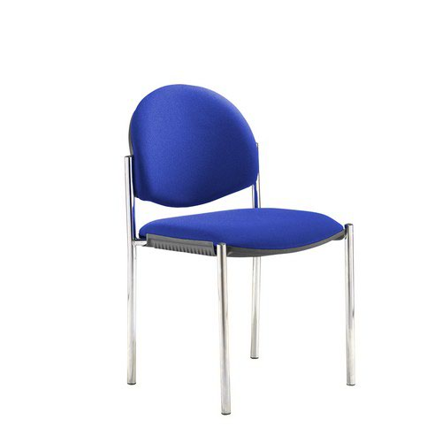 Coda Multi Purpose Chair And No Arms And Blue Fabric