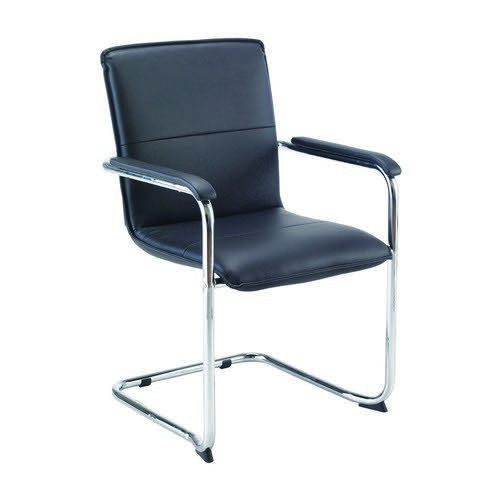 Jemini Leather Look Visitor Chair Black KF78702