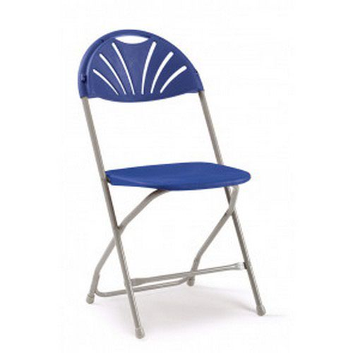 2000 Series Folding Chair Blue/Grey Sold in Boxes of 8 Chairs
