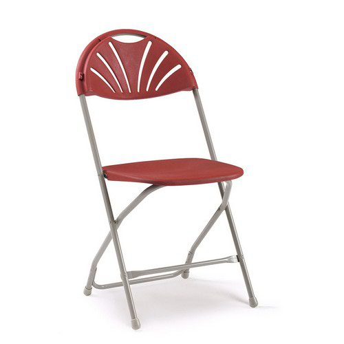 2000 Series Folding Chair Burgundy/Grey Sold in Boxes of 8 Chairs