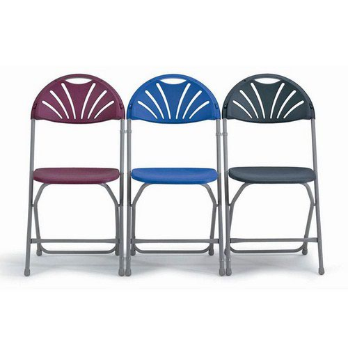 2600 Series Folding Chair Blue Back Upholstered Seat Sold in Boxes of 4 Chairs