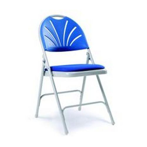 2600 Series Folding Chair Charcoal Back Upholstered Seat Sold in Boxes of 4 Chairs