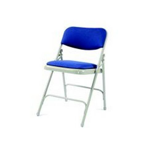 2700 Series Folding Chair Fully Upholstered Blue Sold in Boxes of 4 Chairs
