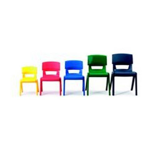 Postura + Stacking Chair Polypropylene 38cm Red Classroom Seats CH1875