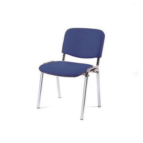 Topaz Blue Upholstered Chair Chrome Frame Stacks Upto 5 High Fabric and Foam CRIB 5