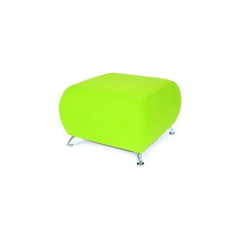 Cookie Soft Seating Square Seat With Various Fabric Colours Curved Silver Legs