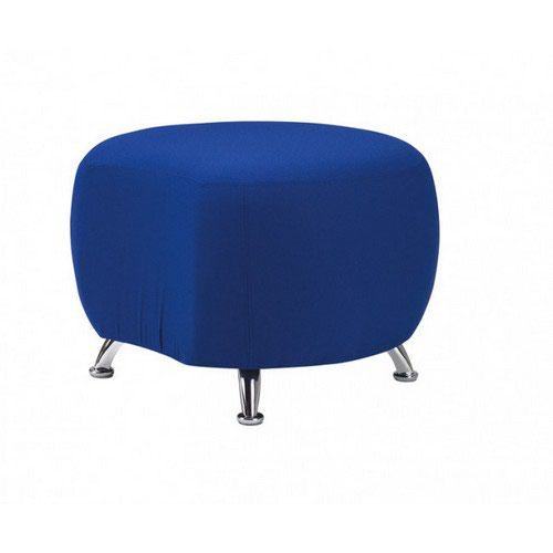 Cookie Soft Seating Circular Linking Seat With Various Fabric Colours And Curved Silver Legs