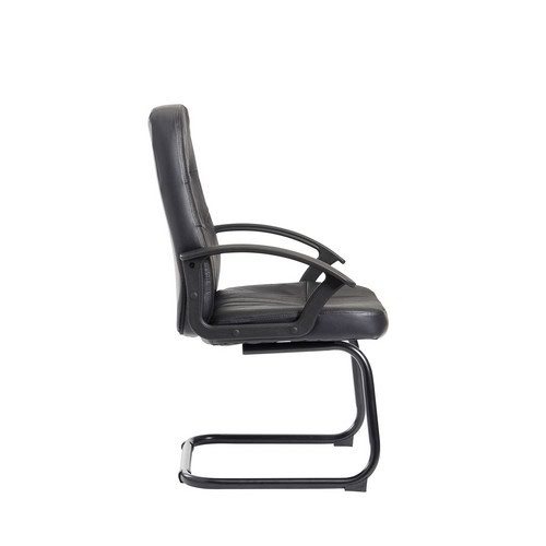 Cavalier Executive Visitors Chair Black Leather Faced