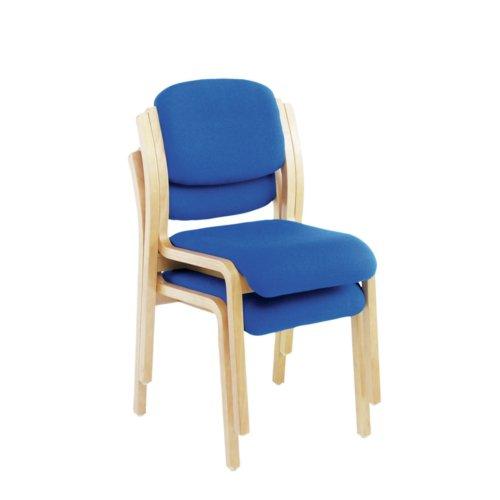 Jemini Blue Wood Frame Side Chair No Arms KF03512