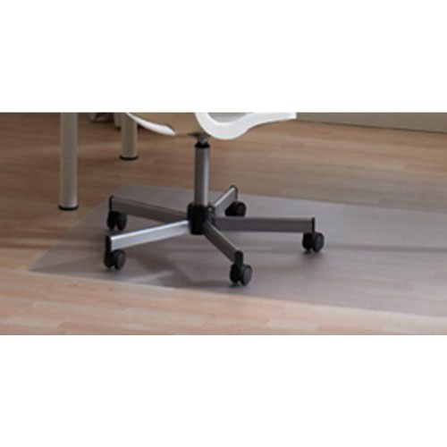 Floortex PVC Antistatic Chairmat For Carpets L Shape 121x92cm Lip Clear