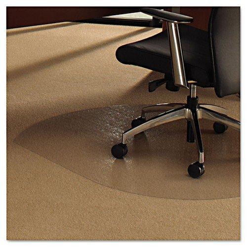 Floortex Polycarbonate Chairmat For Carpets SL Shape 99x125cm Contoured Clear