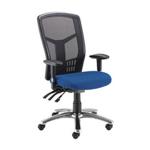 Avior Logan High Back Mesh Operator Chair Blue KF97088