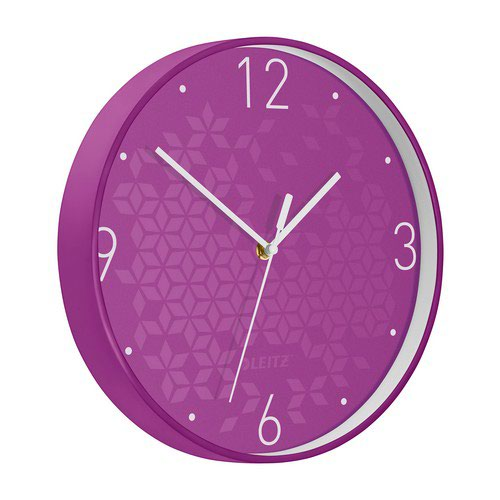 Leitz WOW Wall Clock Purple