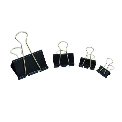 Initiative Foldback Clips 25mm Black Pack 10