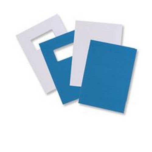 GBC Cover A4 Window Blue Pack 25 Pairs