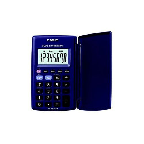 Casio HL-820VER-SA-EH 8 Digit Pocket Calculator with Currency Convertor