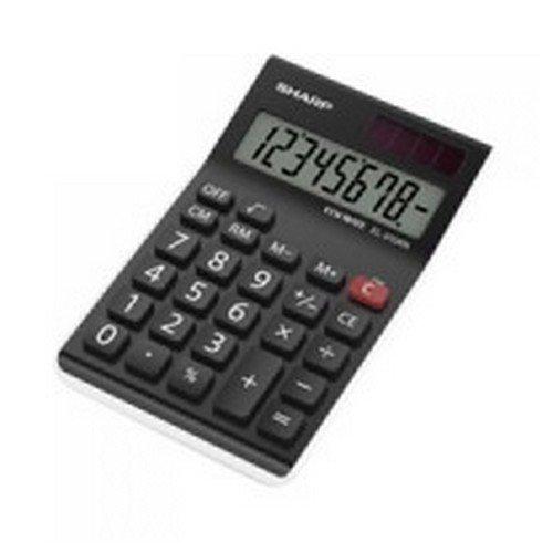 Sharp EL-310ANWH White Office Desktop Calculator Small Desktop Large 8-Digit Display 4 Key Memory