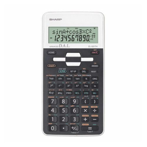 Sharp EL531XBWH White Scientific Calculator 270 Advanced Scientific Functions 2-Line Display