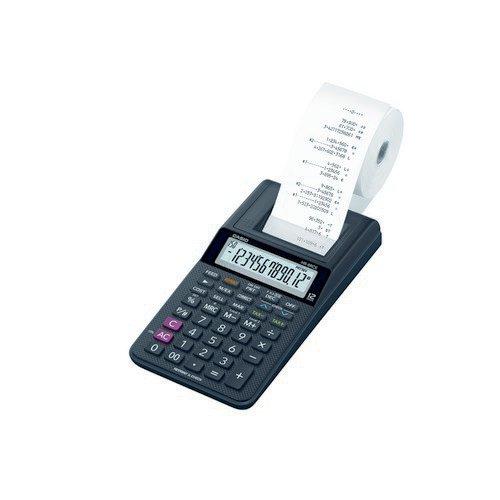 Casio HR-8RCE 12-Digit Light Duty Printing Calculator; Euro Conversion