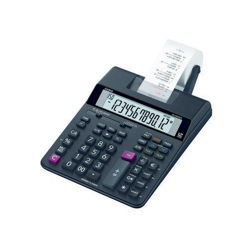 Casio 12-Digit Medium Duty Printing Calculator; Euro Conversion