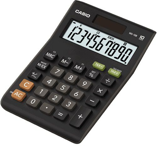 Casio MS-10B 10 Digit Desktop Calculator MS-10B-S-EC