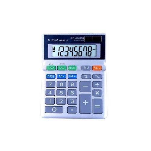 Aurora DB-453B Desktop Calculator Battery/Solar-power 8 Digit 3 Key Memory