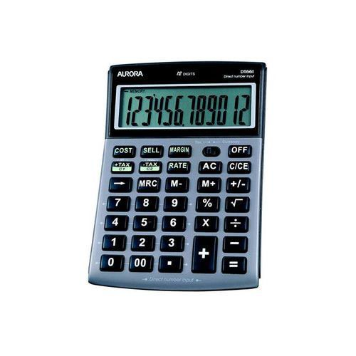 Aurora DT661 Desktop Calculator Multifunction 12 Digit 3 Key Memory