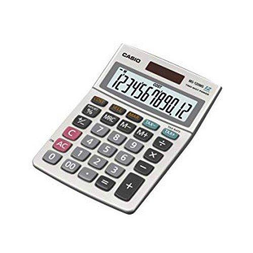 Casio MS120ER Desktop Calculator Euro Battery/Solar-power 12 Digit 3 Key Memory