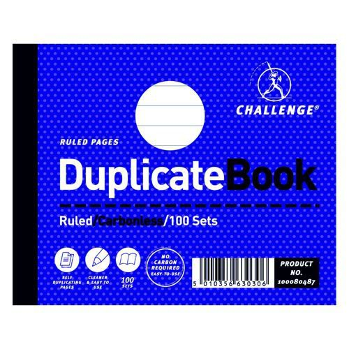 Challenge Duplicate Ruled Book 105x130mm