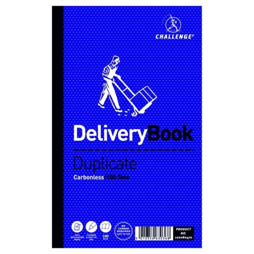 Challenge Duplicate Delivery Note Book 216x130mm