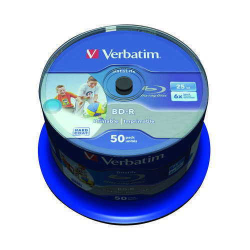 Verbatim Blu-ray Inkjet Printable 25GB Pack 50