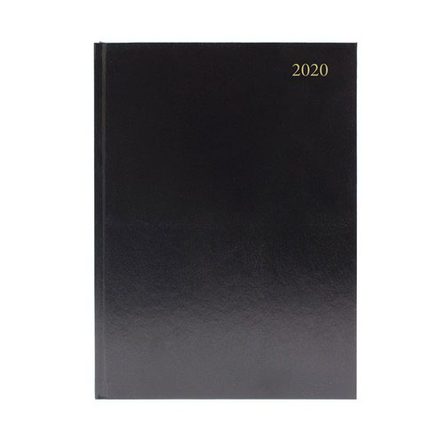 2020 Diary A5 Day Per Page Appointment Black