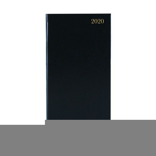 2020 Diary Slim Pocket Week To View Portrait Black