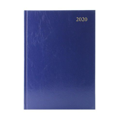 2020 Diary A4 2 Days Per Page Blue