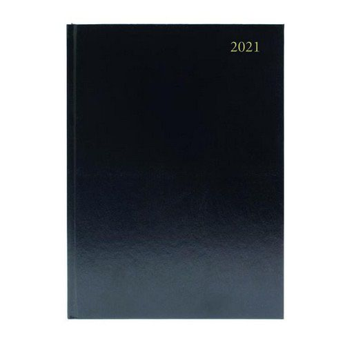 2021 Diary A5 Day Per Page Appointment Black