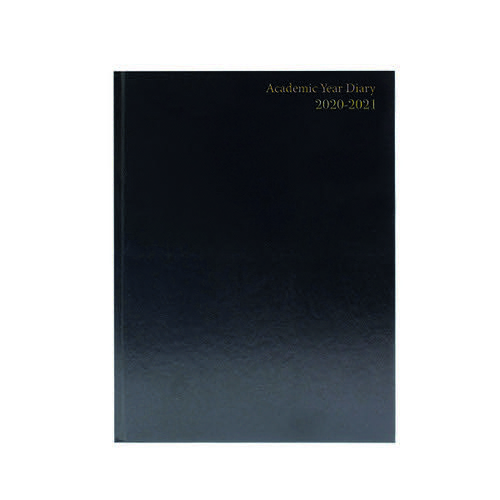 2020/2121 Academic Diary A5 Day Per Page Black