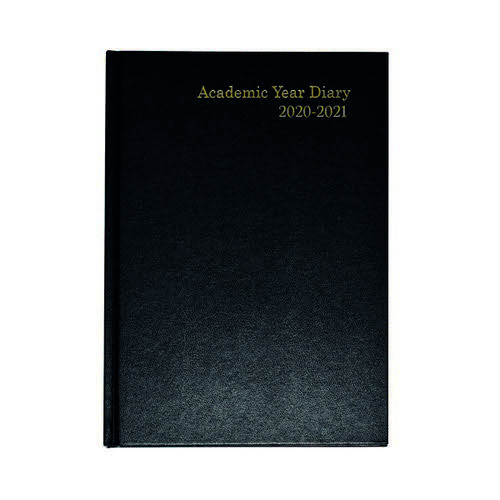 2020/2121 Academic Diary A5 Week To View Black