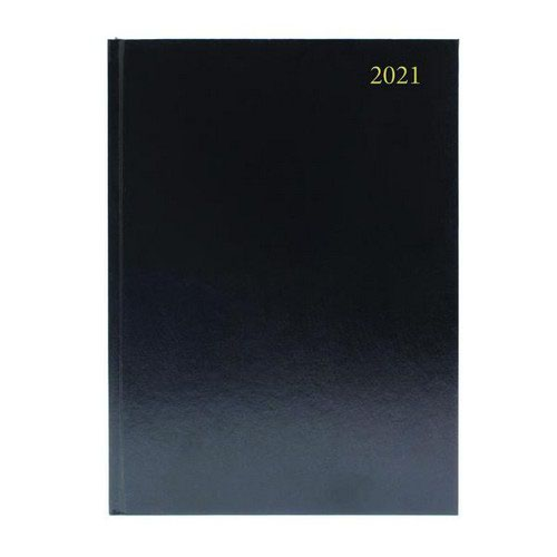 2021 Diary A4 Day Per Page Appointment Black