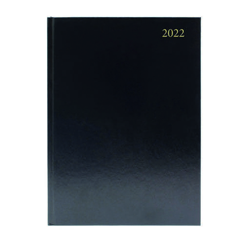 2022 Diary A4 Day Per Page Appointment Black