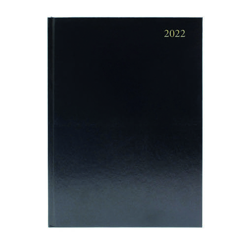 2022 Diary A5 2 Days Per Page Black