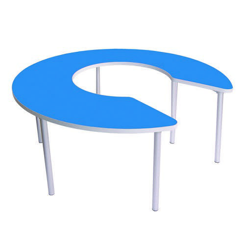 Gopak Enviro Keyhole Table 530mm High Blue 1500mm Diameter
