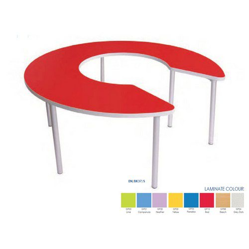 Gopak Enviro Keyhole Table 530mm High Beech 1500mm Diameter