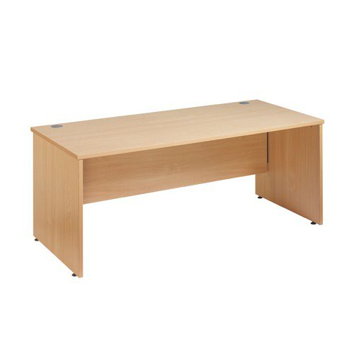 Maestro 25 Panel End Desk 1000X800 Beech 1 Central Cable Ports