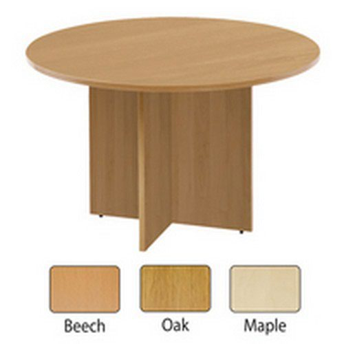 Arista Maple 1100mm Round Meeting Table KF72050
